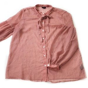 Who What Wear • Tie Neck Button Down Shirt